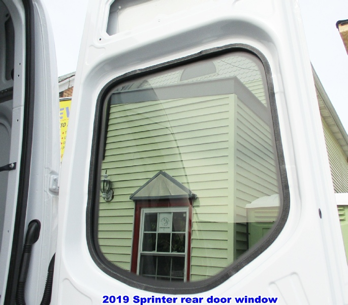 Sprinter windows, solid and venting styles