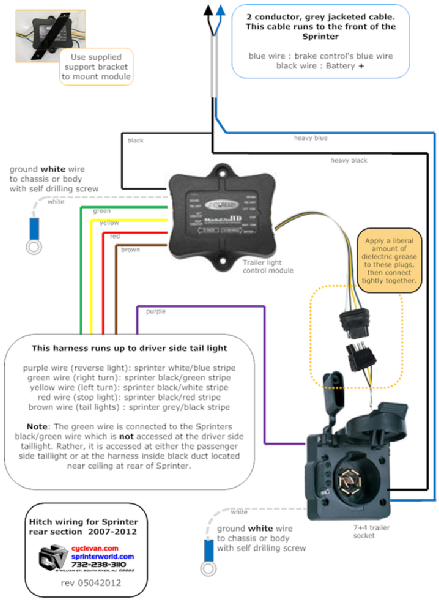 ... part 2 of the Sprinter trailer hitch wiring diagram ...