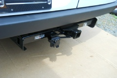 Sprinter with trailer hitch installed